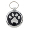 Smarties dog ID tag, paw print, black